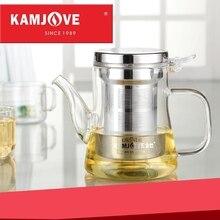 Kamjove neue elegant tasse tee-tasse blume teekanne hitzebeständigem glas tee-set brüheinrichtung glas teekanne kaffeekanne glas teekanne