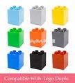 Los niños Juguetes Educativos Kits Modelo Plásticos Ladrillos Partes 3.2x3.2x3.8 cm 2x2 Dots Grandes Ladrillos Compatible Con Duploe 10 unids/lote