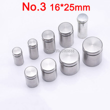 Hot 100PCS 16*25mm stainless steel screw nails Advertisement Fixing Screws hollow mirror glass screws decoration K313-3