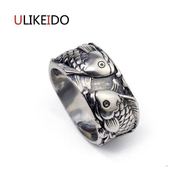 100% Pure 925 Sterling Silver Jewelry Fish Rings Wide Version Men Signet Ring For Women Special Christmas Gift 1125100% Pure 925 Sterling Silver Jewelry Fish Rings Wide Version Men Signet Ring For Women Special Christmas Gift 1125