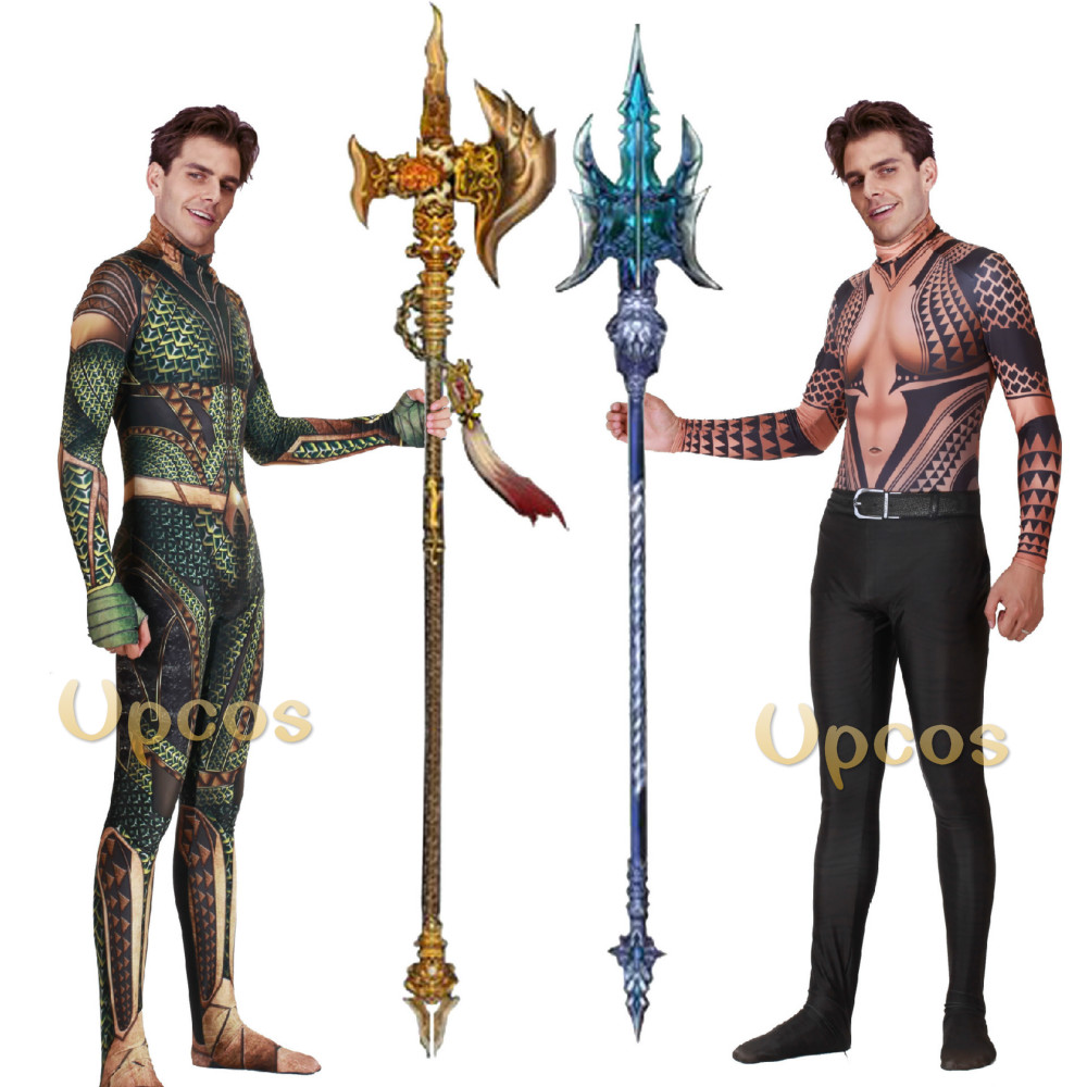 Anime DC Comic Aquaman Cosplay Costume Tights Adults/children/kids Halloween Saints' All Hallows' Day Suits