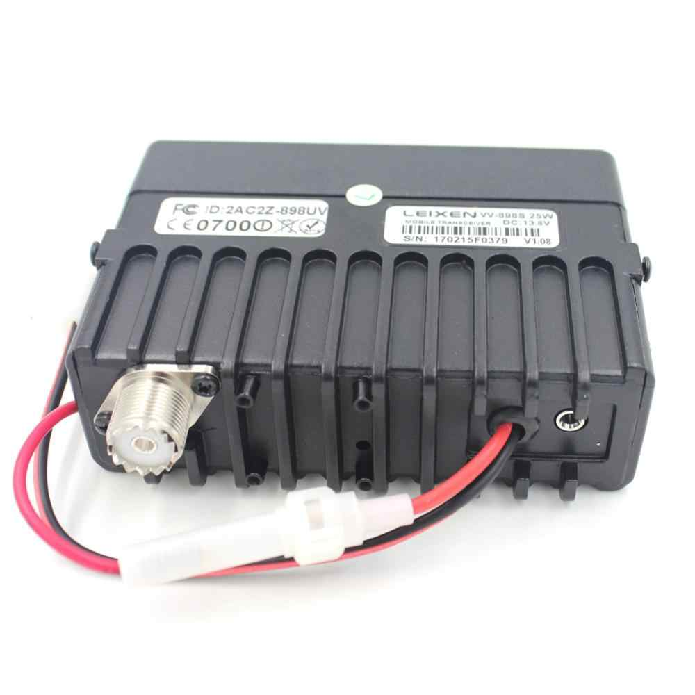 LEIXEN VV-898S 25 Вт двухдиапазонный автомобильный Радио двухстороннее радио, 136-174/400-480 МГц, 2,5 к отсек для мобильного телефона трансивер любительский Ham радио