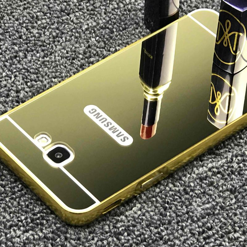 the latest 421cf f7fd6 US $2.6 20% OFF|For Samsung Galaxy J5 Prime SM G570F Luxury Armor Aluminum  Metal Frame + Mirror Acrylic Case Back Cover For Samsung J5 Prime-in Phone  ...