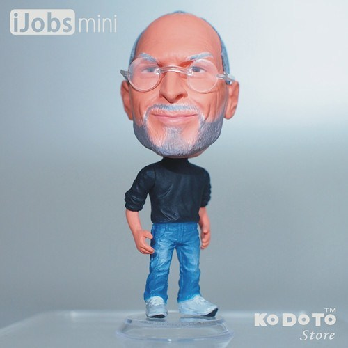 KODOTO Baby Toys Action Figure PVC Doll World Famous People Apple Co-founder Steve P.(aul) Jobs Model Decoration Best Gift