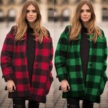 Winter New Fashion Style Woolen Tartan Classic Overcoat