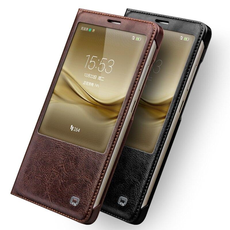 QIALINO a Huawei Ascend Mate 8 tokhoz, luxus valódi bőr tok Mate8 - Mobiltelefon alkatrész és tartozékok