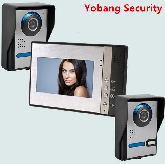 Yobang Security freeship 7inch Door Camera Video Monitor apartment villa doorbell phone Video intercom smart Door Access Control yobang security 9 inch lcd home security video record door phone intercom system doorbell video monitor for apartment villa