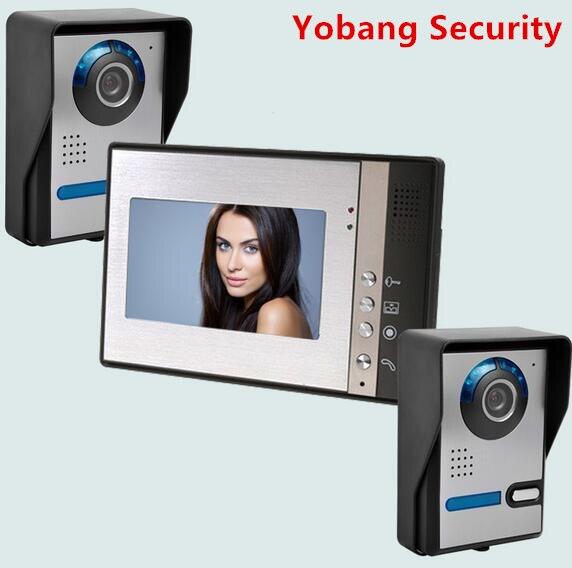 Yobang Security Freeship 7inch Door Camera Video Monitor Apartment Villa Doorbell Phone Video Intercom Smart Door Access Control