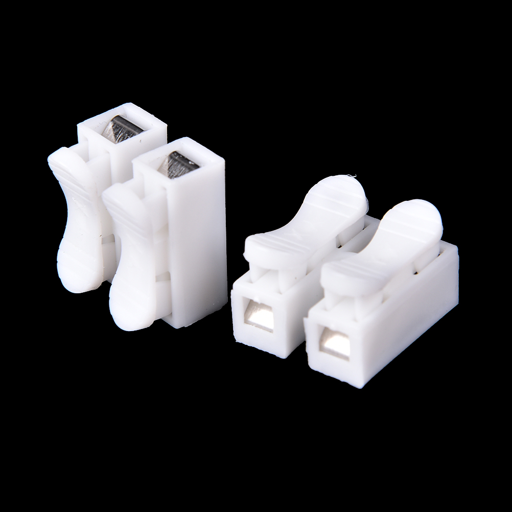 Lighting Accessories 50pcs/lot Plastic Push Type Wire Connector 2p 3p Butt Joint Terminal Blocks Universal Connector For Led Lamps