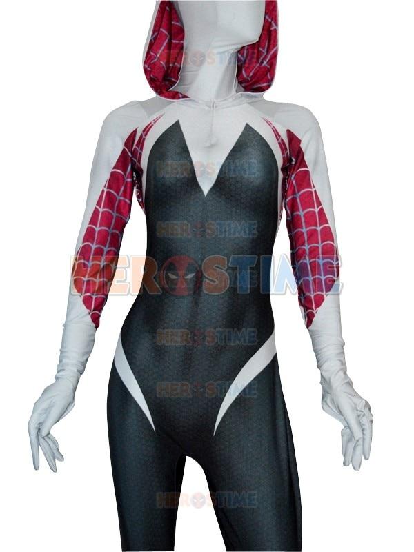 Νέο 3D αράχνη εκτύπωσης Gwen Stacy κοστούμι - Καρναβάλι κοστούμια - Φωτογραφία 2