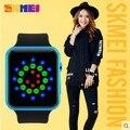 Individualidade criativa menina neutro quente LEVOU à prova d' água relógio de pulso de moda relógio Digital de estudantes do sexo feminino Senhoras Senhora De Borracha Crianças