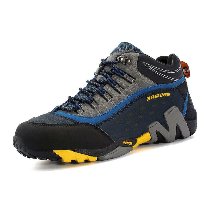genuine leather Autumn Winter Sport running Shoes Outdoor running Shoes men running sneakers