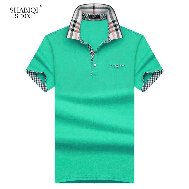 4633428297 ... 2018 novedad camisa Polo estilo clásico para hombre de verano de manga  corta Polos camisa sólida para hombre 95% algodón talla grande menPlus S  10XL de ...