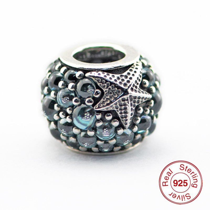 Sopii Pandora Charms Rannekorut 100% 925 Sterling-hopea-korut Oceanic - Hieno korut