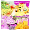 High quality 3 Colors Square Silk Scarf Women Thin Section Shawl Neck Warm Art Wroks Van Gogh's Painting Collection