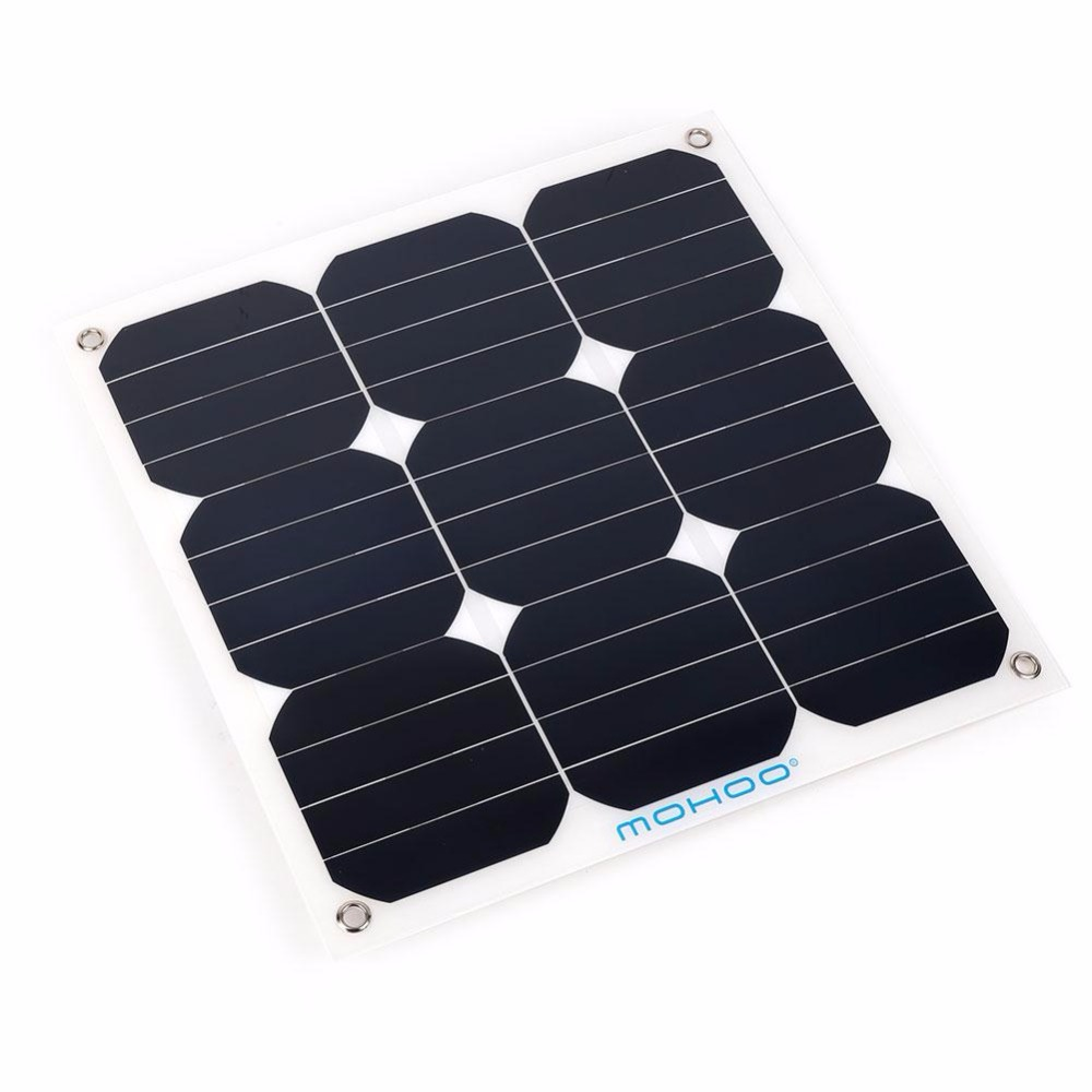 413x415x30mm 30W 18V Solar Panel Bank Flexible Boat Caravan Car Solar Power Panel For Outdoor Activity Covenience Portable