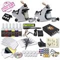 Tattoo Starter Kit 2 Machine Guns 6 Color Inks Supply Set Equipment Dunhuang-1