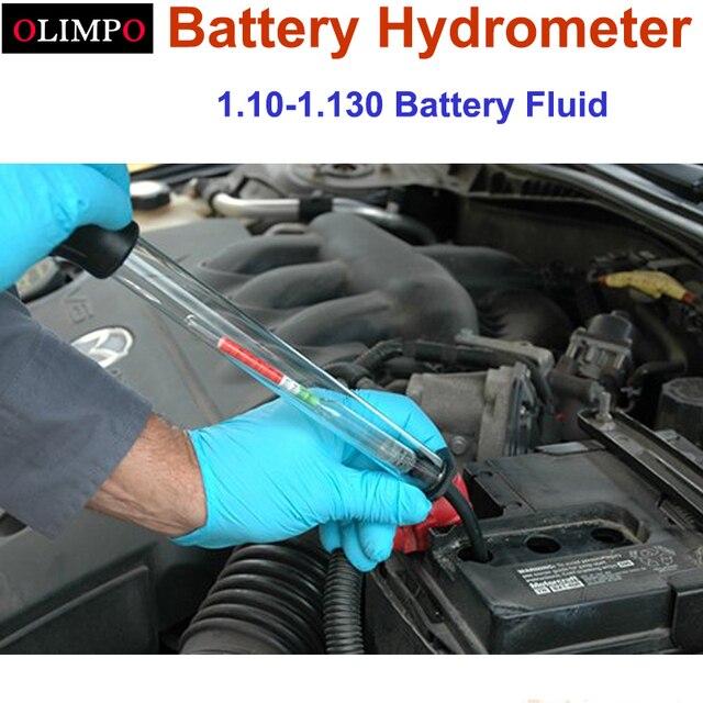 Gravidness misuratore di densità di 1.100-1.300 batteria elettrica elettrico di aspirazione Batteria Idrometro Tester Acido Elettrolita di Piombo