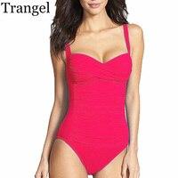 BANEDA One Piece Swimsuit Plus Size Swimwear Women 2017 Summer Beachwear Push Up Bathing Suits Retro