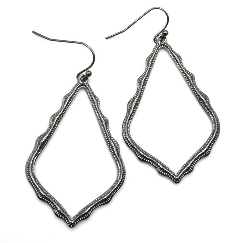 15 Colors Designer Frame Teardrop Earrings for Women Fashion Jewelry Painting Metal Water Drop Earrings Statement Earrings 20