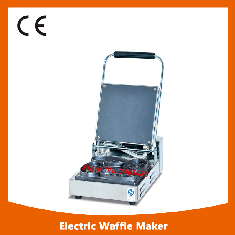 KW-E4A stainless steel single head waffle maker machine for snack equipment fast food leisure fast food equipment stainless steel gas fryer 3l spanish churro maker machine