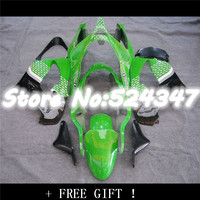 B Body For KAWASAKI NINJA ZX9R Factory green black 00 01 ZX 9R ZX 9R 9 R ZX9 R 00 01 2000 2001 Green black Fairing