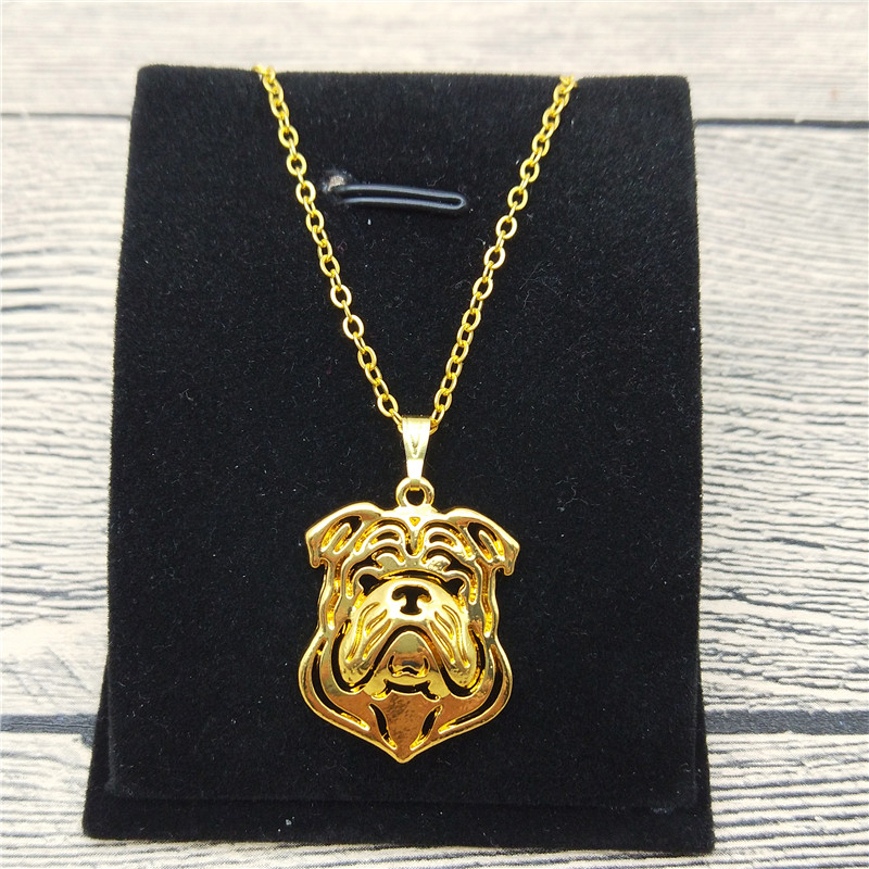 Buy Cheap New English Bulldog Necklace Trendy Style English Bulldog Pendant Necklace Women Pet Jewellery Fashion Animal Dog Jewellery Attractive Appearance