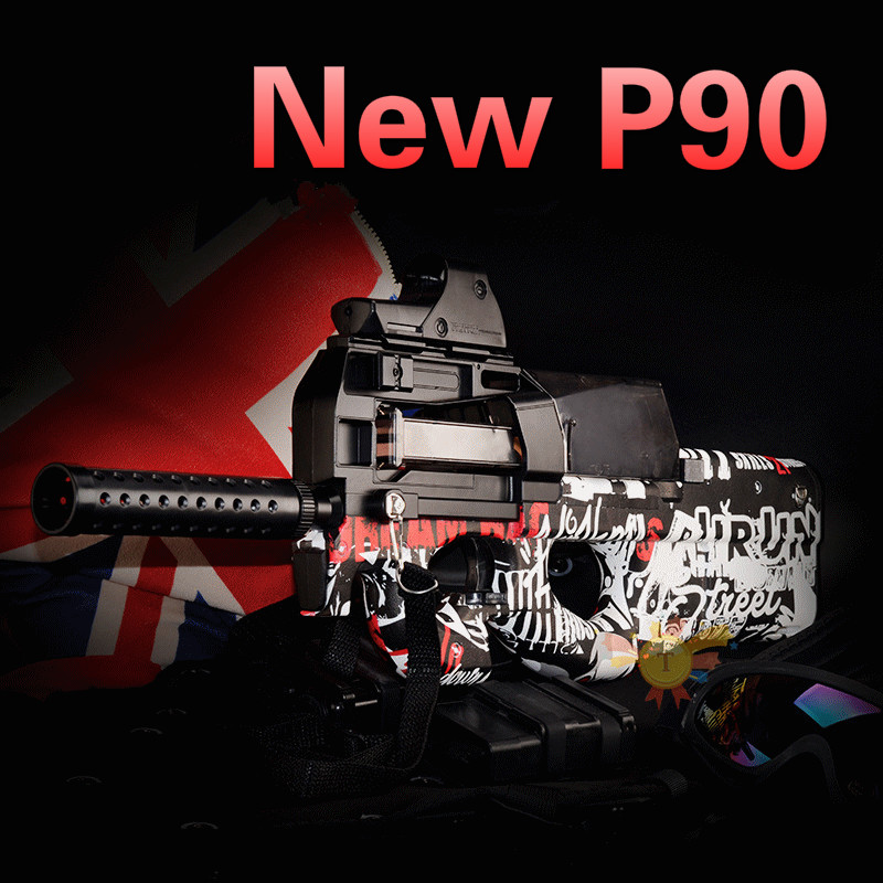 P90 Graffiti Édition jouet électrique PISTOLET balle en eau Éclate Pistolet CS Live D'assaut Snipe Arme En Plein Air Pistolet Jouets - 2