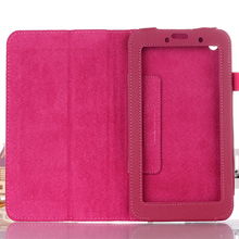 ocube 500pcs/lot 2-Folder Litchi Grain PU Protective Shell Leather Cases Cover For Lenovo IdeaTab A3000 7 Inch Tablet