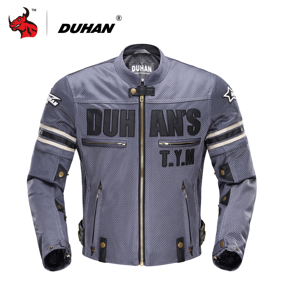 DUHAN Summer Men's Motorcycle Jacket Motocross Off-Road Jacket Motor Racing Jacket Breathable Mesh Moto Jacket Protective Gear