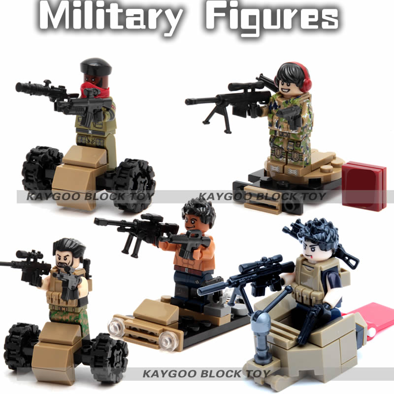 KAYGOO many Alloy Weapons SWAT military army soldiers building set blocks best christmas toys for children military city police swat team army soldiers with weapons ww2 building blocks toys for children gift