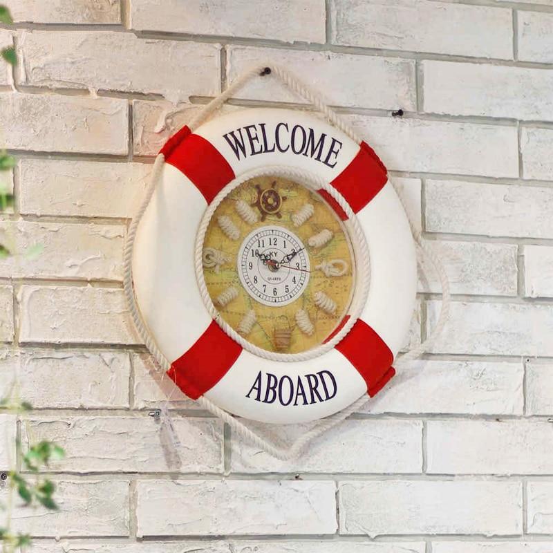 aliexpress : willkommen an bord rettungsring wanduhr holz, Wohnzimmer