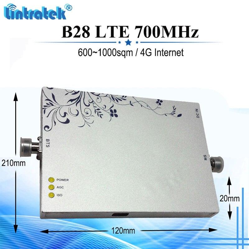 Amplificateur de Signal de téléphone portable Lintratek 4G 700 MHz Gain de 75dB LTE FDD 700 répéteur de Signal amplificateur celulaire répétidor #5 + 3