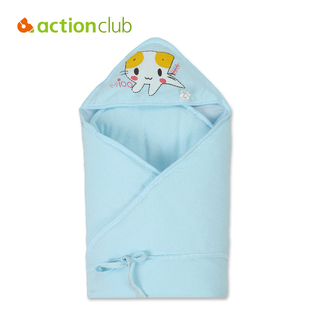 Newborn Baby Blanket Swaddle Cotton Cat Character Pattern 80*80cm Baby Toddler Kawaii 3 Color Baby Infant Blanket Sleeping Wraps