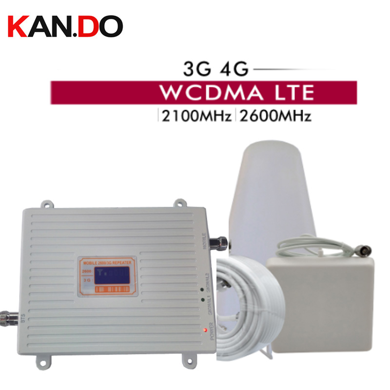 3G 4g DUAL Band Signal Repeater 2100 2600 GSM WCDMA UMTS LTE Cellular Signal Booster 2100/2600mhz 3g 4g REPEATER 3g 4g BOOSTER
