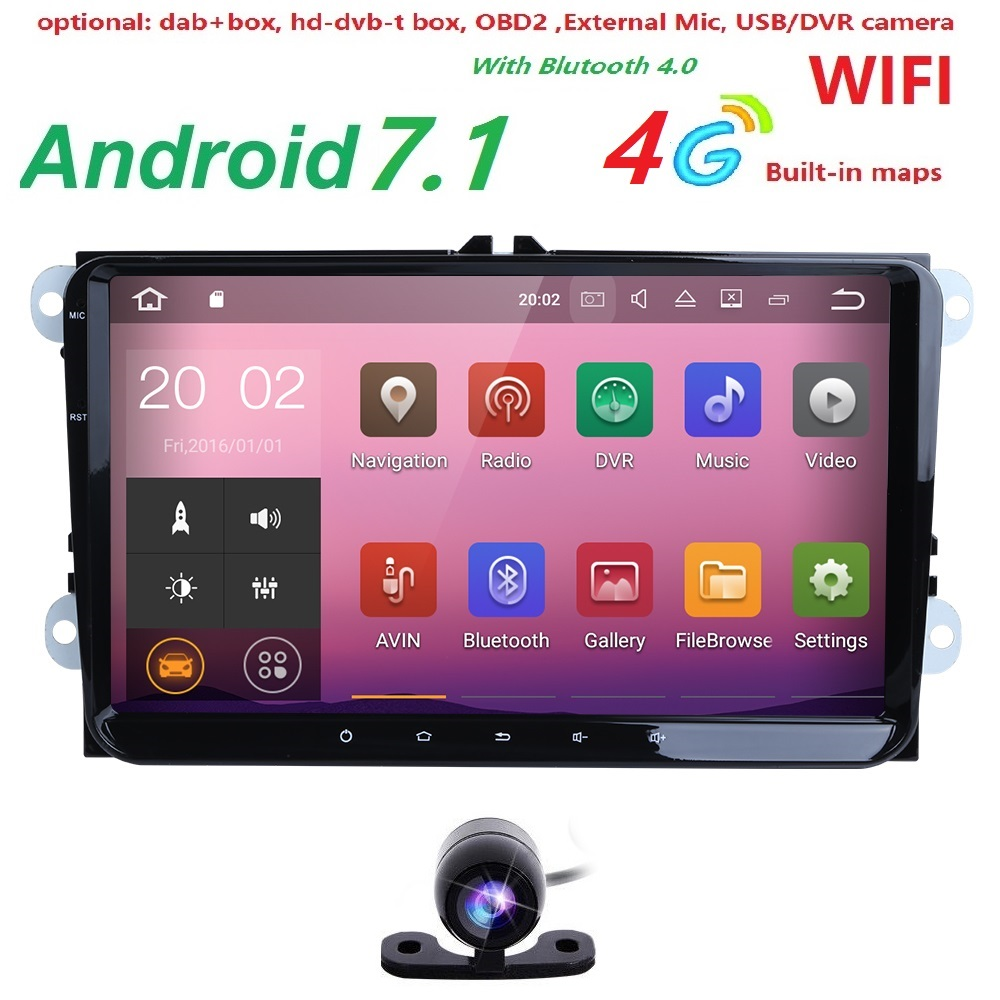 android7 1 radio 2gb car dvd for volkswagen vw golf polo. Black Bedroom Furniture Sets. Home Design Ideas