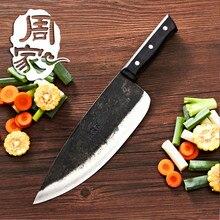 Freies Verschiffen ZHOU Handgemachte Clip Stahl Chef Ausbeinmesser Geschmiedet Haushalt Eviscerate Knochen Messer Küche Schneidwerkzeug Hackmesser
