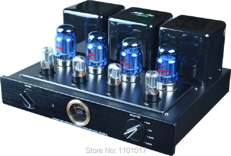 Meixing MINGDA MC368-B KT88 Push-Pull tube amplifier HIFI EXQUIS 50wx2 integrated lamp 6n8p (6SN7) AMP with remote 3206 amplifier aluminum rounded chassis preamplifier dac amp case decoder tube amp enclosure box 320 76 250mm