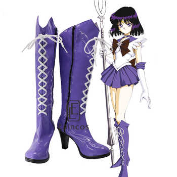 Anime Sailor Moon Sailor Saturn Cosplay Party Shoes Purple Fancy Boots Customized Size - DISCOUNT ITEM  10% OFF All Category
