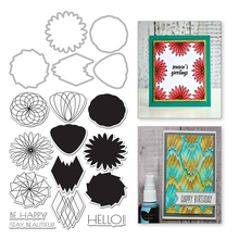 Eastshape Flowers Clear Stamps and Metal Cutting Dies Scrapbooking for 2019 New Craft Set DIY Decorative Embossing Stencils