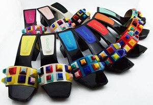 Image 2 - Zapatos y bolsos de diseño italiano a juego, zapatos de fiesta, boda con zapatos y Bolsa de moda, tacones africanos, 8 cm, MD011
