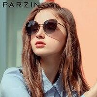 PARZIN Sunglasses Vintage Metal Frame Cat Eye Sunglasses Women Quality Nylon Lenses Sun Glasses For Women Ladies Shades New 8201