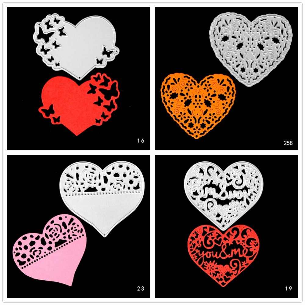 Hollow Heart-shaped die cuts,Metel cutting dies in scrapbooking embossing folder for sizzix fustella cutting machine d2