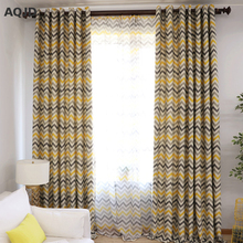 Stripe Printed Blackout Curtains For Living Room Modern Window Blinds For Study Room Kids Curtains YM-4-016