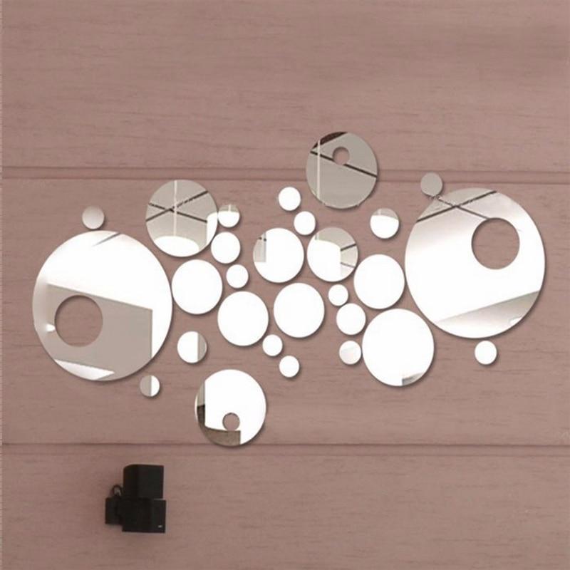 nové 3d diy akrylové zrcadlo stěn samolepky domácí výzdoba - Dekorace interiéru