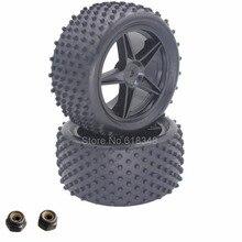 2 Unidades De Goma RC Buggy Neumáticos Neumático Trasero y Llantas 12mm Hexagonal Para Redcat Shockwave Nitro Buggy