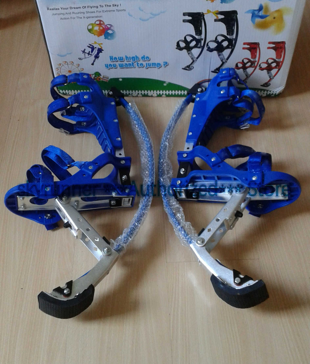 Skyrunner For People Weight Is 66~110 lbs/30~50kg blue Jumping Stilts/skyrunner/Jump shoes/Flying Shoes/Exercise and fitness
