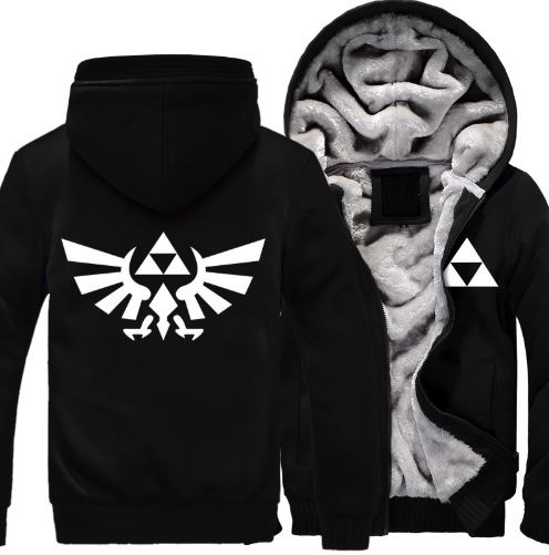 Hot New The Legend of Zelda Link Men Thicken font b Hoodie b font Anime Zipper