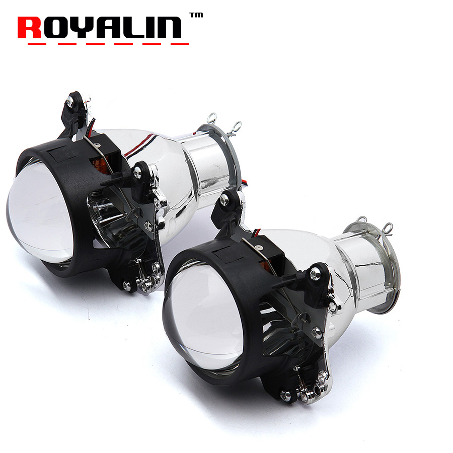 ROYALIN Car Styling Headlights Lens H7 Halogen Bixenon Projector LHD RHD for Auto D2S D2R D2H