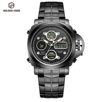 Men Luxury Electronic LED Digital And Analog Wristwatch 2